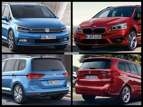 bmw minivan photo comparison volkswagen touran vs bmw 2 series gran