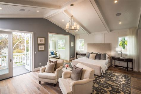 hton bay 70 in beige ceiling fan traditional master bedroom with cathedral ceiling