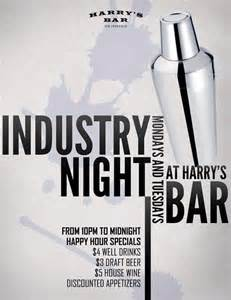 Online Layout Design industry night flyer for harry s bar jessica chan studios