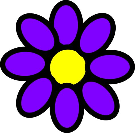 purple flower clip art  clkercom vector clip art