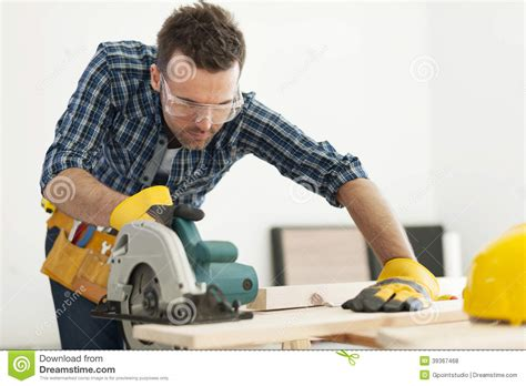 Carpenter At Work Stock Photo   Image: 39367468