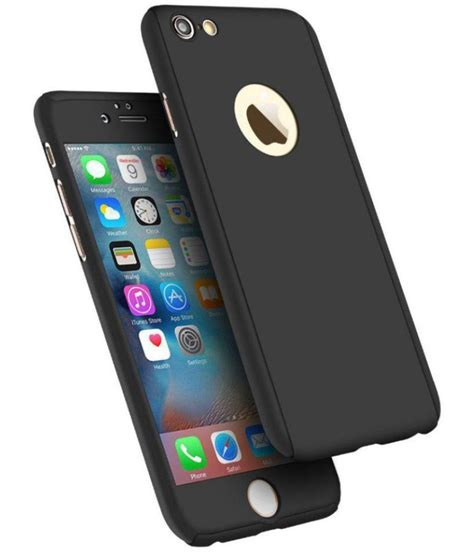 apple iphone 6s cover by tecozo black plain back covers at low prices snapdeal india