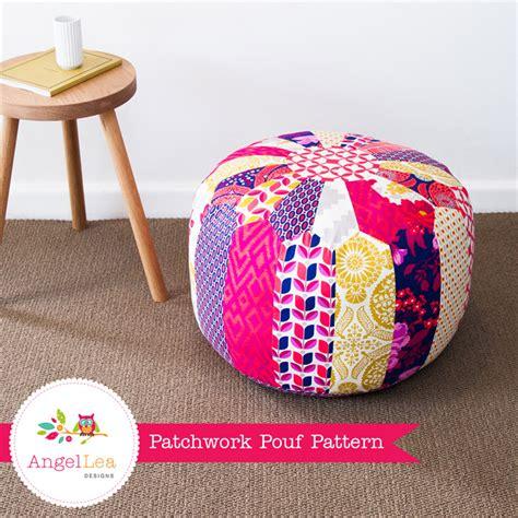 how to make an ottoman pouf patchwork pouf pdf sewing pattern moroccan style ottoman
