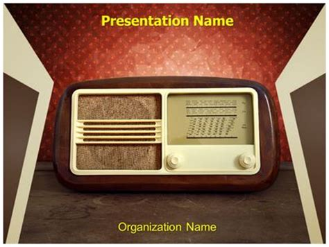 template powerpoint radio vintage radio powerpoint template background