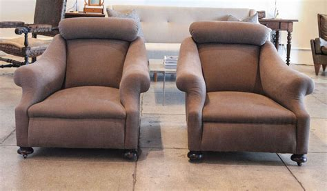 pair of low club chairs united kingdom late 19th century