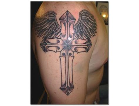 shoulder cross tattoos 73 stunning cross shoulder tattoos