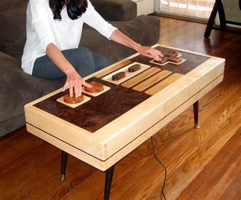 Nes Coffee Table Working Nintendo Controller Coffee Table Dudeiwantthat