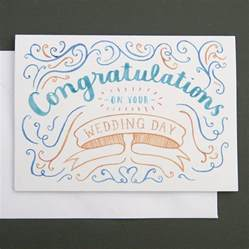 congratulations wedding card by nic farrell illustration notonthehighstreet