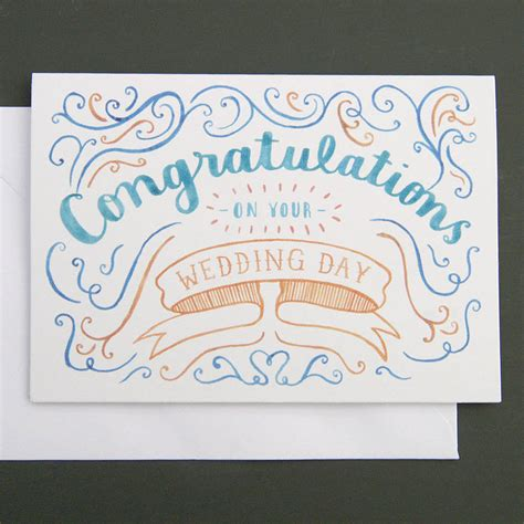 Wedding Card Congratulations by Congratulations Wedding Card By Nic Farrell Illustration