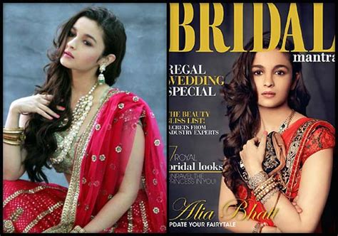 the wedding student of the year alia bhatt on the cover of quot bridal mantra quot vogue
