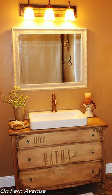 diy bathroom vanity from dresser old dresser turned to bathroom vanity hometalk