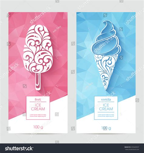design banner ice cream vector set templates packaging ice cream stock vector