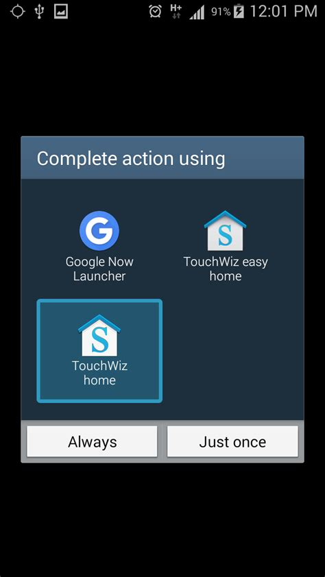 Touchwiz Easy Home App by How To Not Be Asked Every Time Whether To Use Touchwiz Home Or Touchwiz Easy Home Shareithq