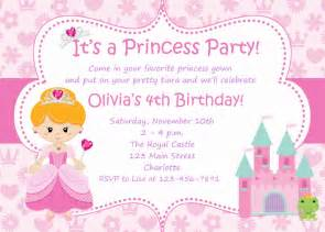 Princess Invites Templates Free Princess Birthday Invitations Printable