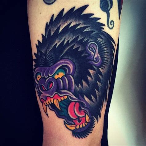 traditional gorilla tattoo 839 best traditional school tattoos images on