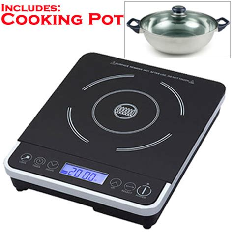 induction cooking magnetic field safety new wave induction cooker with magnetic induction pot portable nw200 ebay