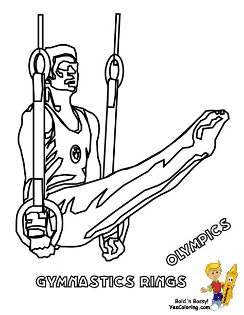 olympic gymnastics coloring page olympics coloring pages summer yescoloring free sports