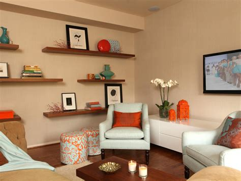 and orange living room photo page hgtv