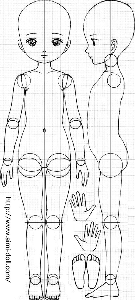 jointed doll blueprint 球体関節人形の設計図
