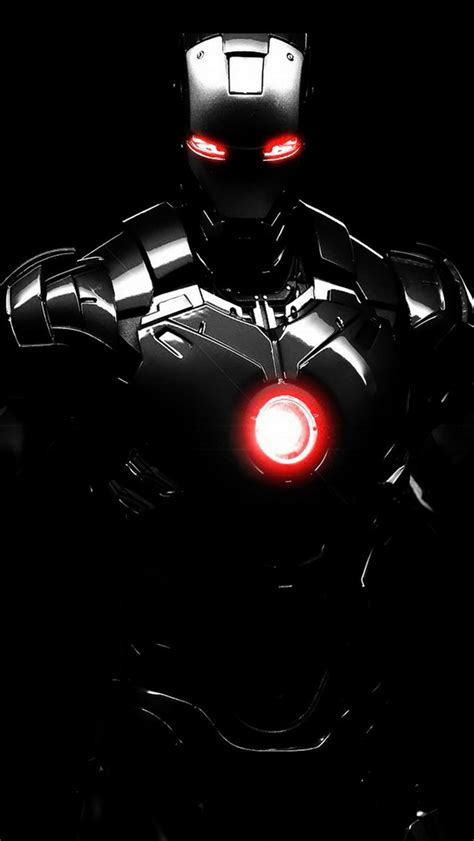Black iron man the iphone wallpapers