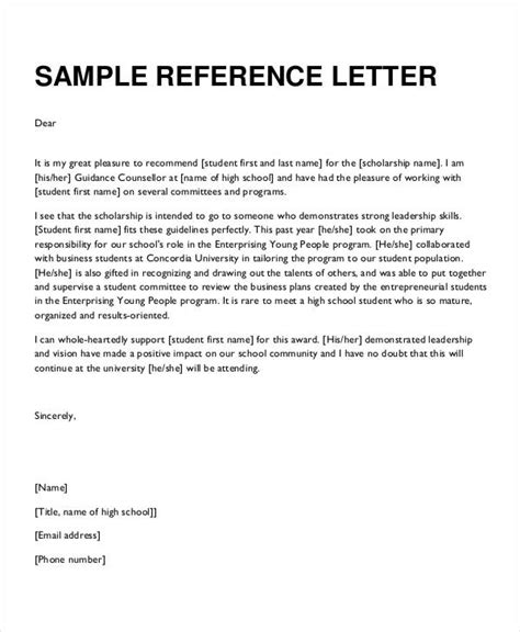 Official Letterhead Letter Of Recommendation formal reference letter 9 free word pdf documents