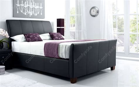 ottoman leather bed leather bed frames kaydian allendale leather ottoman bed