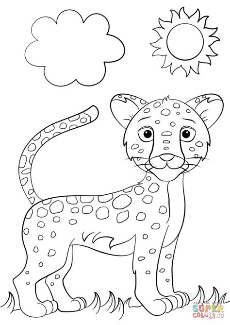 Cute Cartoon Jaguar Coloring Page Free Printable Coloring Pages Jaguar