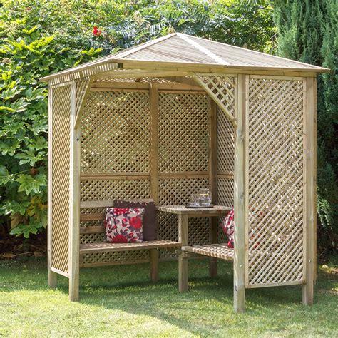 Garden Trellis Bq Grange Softwood Corner Lattice Arbour Departments Diy