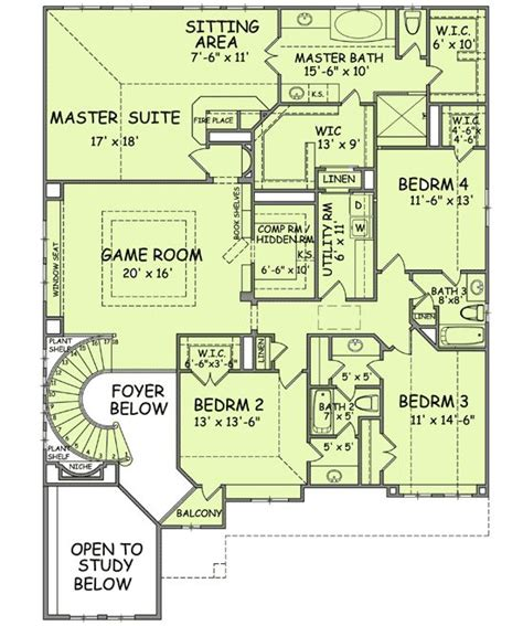 Hidden Room Floor Plans | oversized great room plus secret room