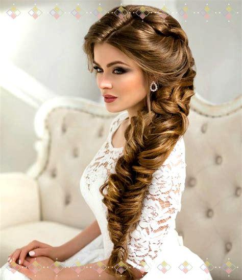 lindas imagenes de peinados para novias con cabello largo