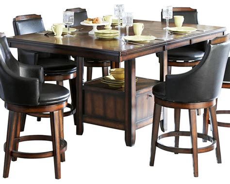 Homelegance bayshore extension counter height table with storage base traditional dining