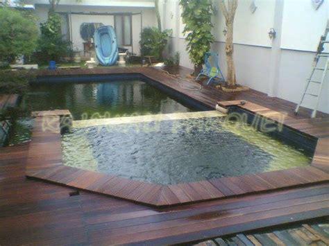 Decking Pool Deck Lantai Kayu Outdoor toko lantai kayu parquet jakarta