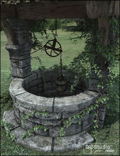 Home Design Exterior Software by Old Village Wishing Well 3d Models And 3d Software By Daz 3d