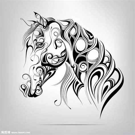 黑白手绘插画图片 手绘