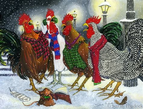 images of christmas roosters roosters carolling sarah hudock cards chickens