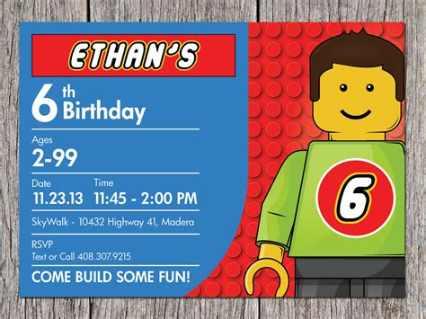 lego card templates free printable lego birthday invitations free invitation