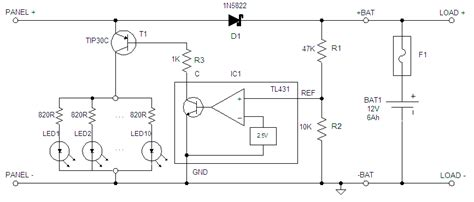 12v charge controller circuit diagram diy solar charge controller