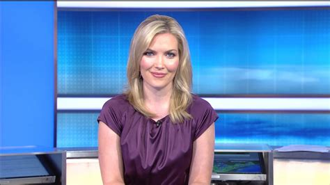 weather channel blonde ladies in satin blouses nicole mitchell purple satin dress