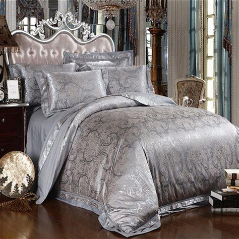 grey satin comforter silver grey satin silk jacquard bedding set comforter