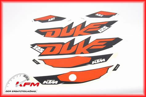 duke 125 dekor ktm duke 125 2013 2016 dekor aufkleber satz decal sticker