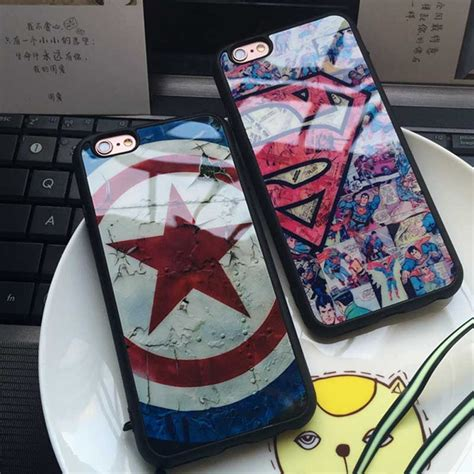 for iphone 8 7 6 6s plus 5 5s se soft silicon phone cover superman captain