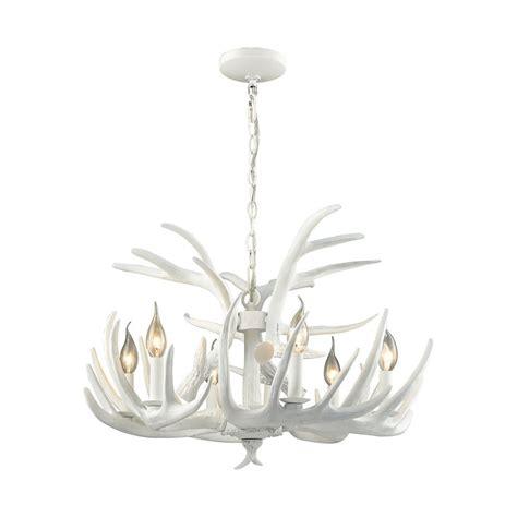 titan lighting big sky 6 light white chandelier tn 66334
