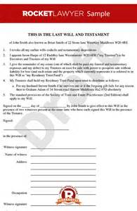 Free Will Writing Template Uk by Will Template Free Last Will Testament Form