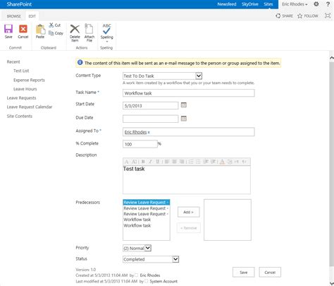 sharepoint create workflow build a better nintex workflow assign to do task form