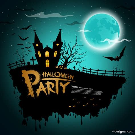 halloween themes vector 4 designer halloween theme material 05 vector material