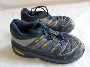 baby boy s toddler adidas athletic tennis shoes blue yellow size 6 5 in euc ebay