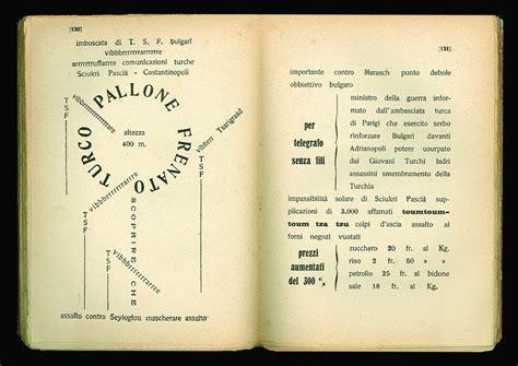 poesie futuriste testi il primo libro d artista della storia zang tumb tuuum di