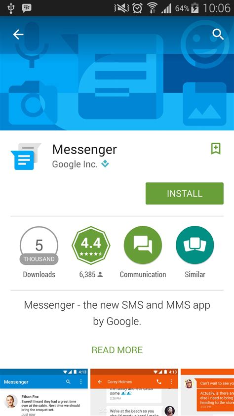 Play Store Messenger Releases Messenger App For Android That May