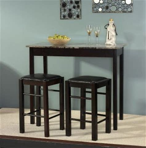 Kitchen Tables With Bar Stools by 3pc Espresso Wooden Counter Height Kitchen Table Island