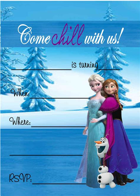 printable free frozen invitations free frozen birthday party invitations frozen birthday